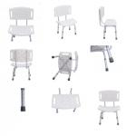 PS133 เก้าอี้นั่งอาบน้ำมีพนักพิง (อลูมิเนียม) ปรับระดับได้