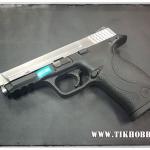 ปืนสั้นระบบแก๊สโบลว์แบล็ค รุ่น M&P ลำกล้องยาว สีเงิน ไม่ยิงลาย