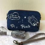 กระเป๋าคล้องมือผ้ายีนส์แบรนด์ Peach ของแท้ 💯%