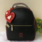 กระเป๋าเป้หนังนิ่มแต่งหัวใจแบรนด์ Peach ของแท้ 💯%