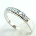 แหวนพลอยผู้หญิงเงินแท้ 92.5 เปอร์เซ็น ฝังด้วยพลอสกายลูโทปาซแท้