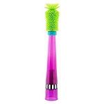 แปรงล้างขวดและจุกนม Sassy สามารถป้องกันรอยขีดข่วนได้ (Sassy No Scratch Bottle Brush) สีเขียวมะนาว ด้ามม่วง ออกใหม่ล่าสุด