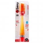 แปรงล้างขวดและจุกนม Sassy รุ่นใหม่ล่าสุด สามารถป้องกันรอยขีดข่วนได้ (Sassy No Scratch Bottle Brush) สีส้ม