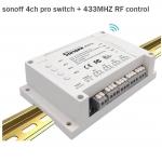 Sonoff 4 CH Pro ( 433 MHz) ไม่รวม Remote