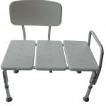 PS136 เก้าอี้นั่งอาบน้ำยาวพิเศษมีพนักพิง (อลูมิเนียม) ปรับระดับขาได้