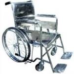 PS56 รถเข็นผู้ป่วยสแตนเลสพับไม่ได้ + เบาะนั่ง 1 ชิ้น