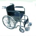 PS58 รถเข็นผู้ป่วยเหล็กชุบโครเมี่ยม ล้อซี่ลวด + มีเบรคมือ พับเก็บได้