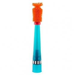 แปรงล้างขวดและจุกนม Sassy สามารถป้องกันรอยขีดข่วนได้ (Sassy No Scratch Bottle Brush) สีส้ม ด้ามฟ้า ออกใหม่ล่าสุด