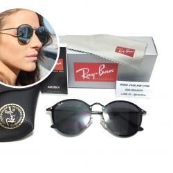 แว่นกันแดด Rayban RB 3575-N Blaze Round 153/9A 59-14 145 3N <ดำ>