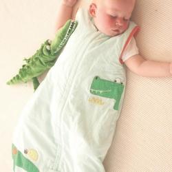 ถุงนอนเด็ก Grobag Baby Sleeping Bag 1.0 Tog, ลาย Crocodile Rock แบรนด์ดังจากอังกฤษ ขนาด 6-18 เดือน