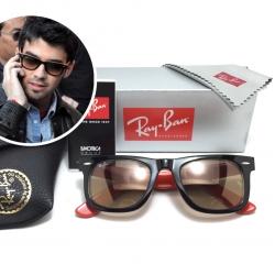 แว่นกันแดด Rayban RB2140 Wayfarer 1002/51 50-22 3N <ส้ม>