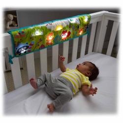 เปียโนติดเตียงเด็ก Fisher Price Woodland Friends Twinkling Light Crib Rail Soother