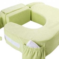 หมอนให้นมเด็กแฝด My Brest Friend Twin Plus Nursing Pillow รุ่น Deluxe สีเขียว