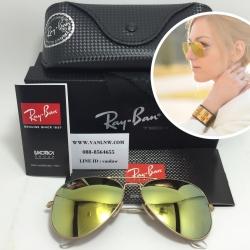 แว่นกันแดด Rayban RB 3025 AVIATOR LARGE METAL 112/93 58-14 3N <Newปรอททอง>