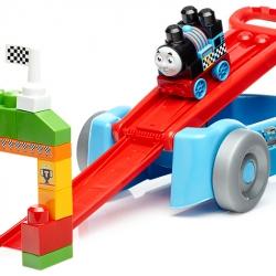 รถวาก้อนโทมัส พร้อมตัวต่อ Mega Bloks Thomas & Friends Racing Railway Wagon