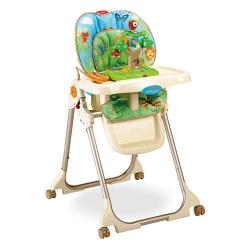 เก้าอี้ทานข้าวเด็ก Fisher Price High Chair - Rainforest Healthy Care High Chair