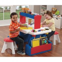 โต๊ะสารพัดประโยชน์ Step2 Creative Projects Table ใช้ทำการบ้าน วาดเขียน ระบายสี พร้อมเก้าอี้ 2 ตัว