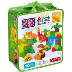ตัวต่อไดโนเสาร์ เสริมสร้างจินตนาการ Mega Bloks First Builders Build A Dinosaur 70 Pieces
