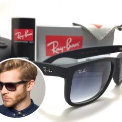 แว่นกันแดด Rayban RB4165 Justin 601/8G 54-16 3N <เทาเฟด>