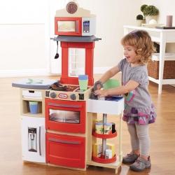 ชุดครัวขนาดกะทัดรัด Little Tikes Cook 'n Store Kitchen สีแดง