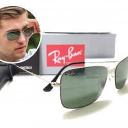 แว่นกันแดด Rayban RB3514 Flat Metal 154/6G 58-15 2N <เงิน>