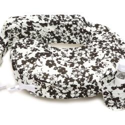 หมอนรองให้นม My Brest Friend Nursing Pillow รุ่น Original ลาย Evening Bloom, White, Black