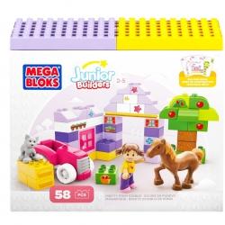 ตัวต่อเสริมสร้างจินตนาการ Mega Bloks Building Blocks Pretty Pony Stable ชุดเรียนรู้สัตว์ในฟาร์ม