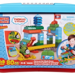 ตัวต่อเสริมสร้างจินตนาการเด็ก Mega Bloks Thomas The Train Percy at The Wash Downจำนวน 80 ชิ้น