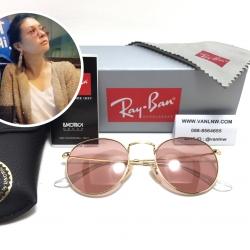 แว่นกันแดด Rayban RB3447 ROUND METAL 001/4B 50-21 3N <ชมพู>