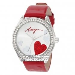 นาฬิกา Morgan นาฬิกาผู้หญิง สายหนัง รุ่น M1072R - Red ของแท้ ประกันศูนย์ CityChain 1 ปี ส่งพร้อมกล่อง และใบรับประกัน