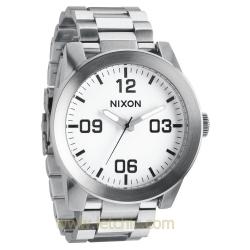 นาฬิกา NIXON รุ่น THE CORPORAL SS WHITE A346100 นาฬิกาข้อมือผู้ชาย ของแท้ ประกันศูนย์ไทย 2 ปี ส่งพร้อมกล่อง และใบรับประกัน