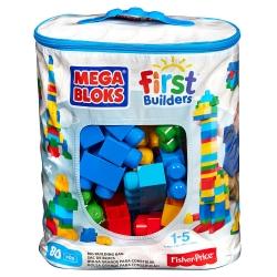 Mega Bloks First Builders Big Building Bag - Blue (80 pcs) ตัวต่อเสริมสร้างจินตนาการ จำนวน 80 ชิ้น สีฟ้า