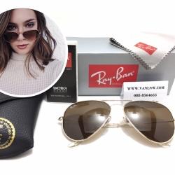 แว่นกันแดด Rayban RB 3025 AVIATOR LARGE METAL 001/33 58-14 3N <ชาเต็มบาน>