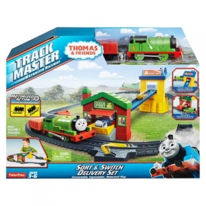 เซตรถไฟโทมัส พร้อมราง Fisher-Price Thomas & Friends Trackmaster Sort & Switch Express Delivery Set