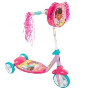สกูเตอร์ ด๊อกเตอร์แมคสตัฟฟิน Disney Doc McStuffins Preschool Girls' 3-Wheel Scooter, by Huffy