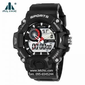 นาฬิกา Alike Sport watch นาฬิกาข้อมือ unisex รุ่น AK14101 Black - สีดำ ของแท้ รับประกันศูนย์ 1 ปี ราคาพิเศษ ราคาถูกที่สุด