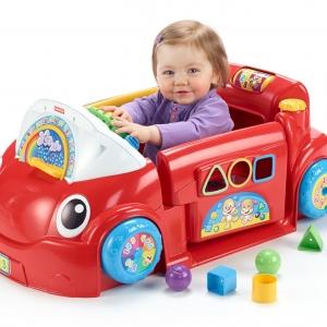 รถหัดขับพร้อมเรียนรู้ Fisher-Price Laugh & Learn Crawl Around Car สีแดง