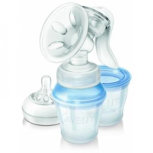 ที่ปั๊มนม Philips Avent Comfort Manual Breast Pump BPA FREE VIA STORAGE SCF330/12 ปั๊มมือประสิทธิภาพเยี่ยม