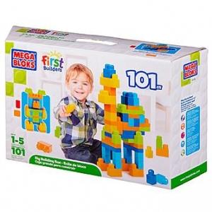 Mega Bloks Building Imagination Bag Classic 101 pcs ตัวต่อเสริมสร้างจินตนาการ จำนวน 101 ชิ้น โทนฟ้า ส้ม