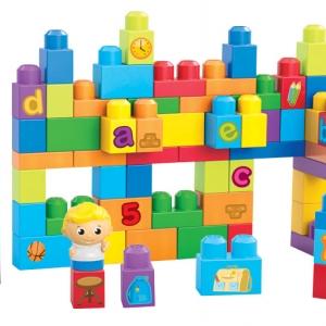 บล๊อคต่อเสริมจินตนาการ Mega Bloks Learning Building Fun playset จำนวน 75 ชิ้น