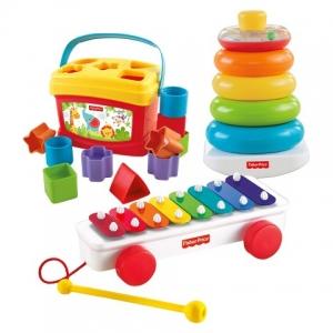 เซตของเล่นเสริมพัฒนาการ Fisher-Price Classic Infant Trio Gift Set ครบถ้วน ทุกพัฒนาการ