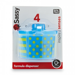 กระปุกแบ่งนมผง Sassy On-the-Go Formula Dispenser, Blue & Green สีเขียว ฟ้า