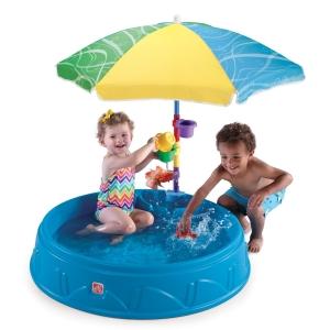 สระน้ำส่วนตัวมาพร้อมร่ม Step2 Play and Shade Pool