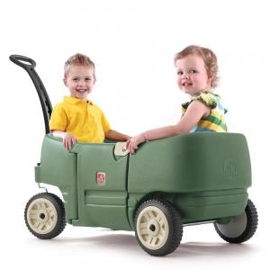 รถเข็นสี่ล้อ Step2 Wagon for Two Plus สีเขียวทหาร