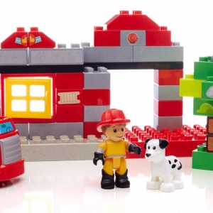 ตัวต่อเสริมสร้างจินตนาการ Mega Bloks Building Blocks Fire Station Rescue ชุดผจญภัยนักดับเพลิง