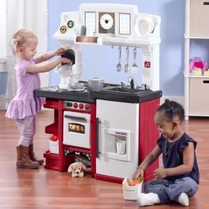ชุดครัว และ ชุดชงกาแฟ Step2 Coffee Time Kitchen, Red สำหรับบาริสต้าตัวน้อย