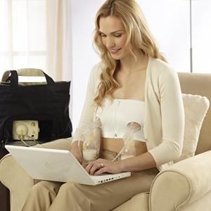 เกาะอก สำหรับปั๊มนม Medela Easy Expression Hands Free Breastpump Bra (size M) สีขาว