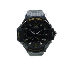นาฬิกา D-Ziner Sport watch รุ่น DZ-8067B นาฬิกาข้อมือ unisex สีเหลืองดำ สายสีเทา ของแท้ รับประกันศูนย์ 1 ปี ราคาพิเศษ ราคาถูกที่สุด