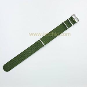 สายนาฬิกา ผ้านาโต้ สีเขียว