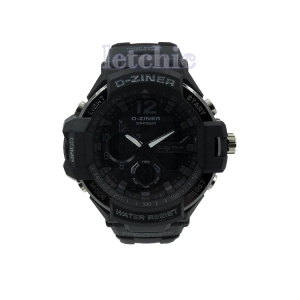นาฬิกา D-Ziner Sport watch รุ่น DZ-8067B นาฬิกาข้อมือ unisex สีเทาดำ สายดำ ของแท้ รับประกันศูนย์ 1 ปี ราคาพิเศษ ราคาถูกที่สุด